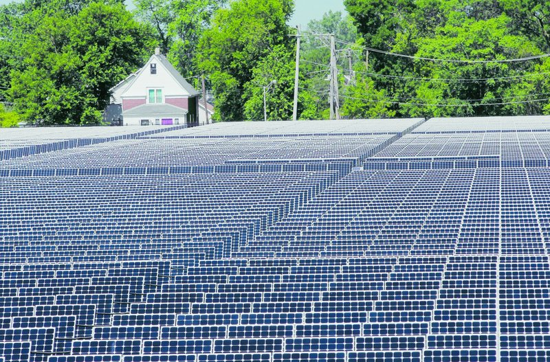 "The nation's largest urban solar plant, with more than 32,000 solar panels, stands on 40 once-vacant acres in Chicago. ""This is really our first foray into solar power,"" says a spokesman for Exelon Corp., which owns the plant."