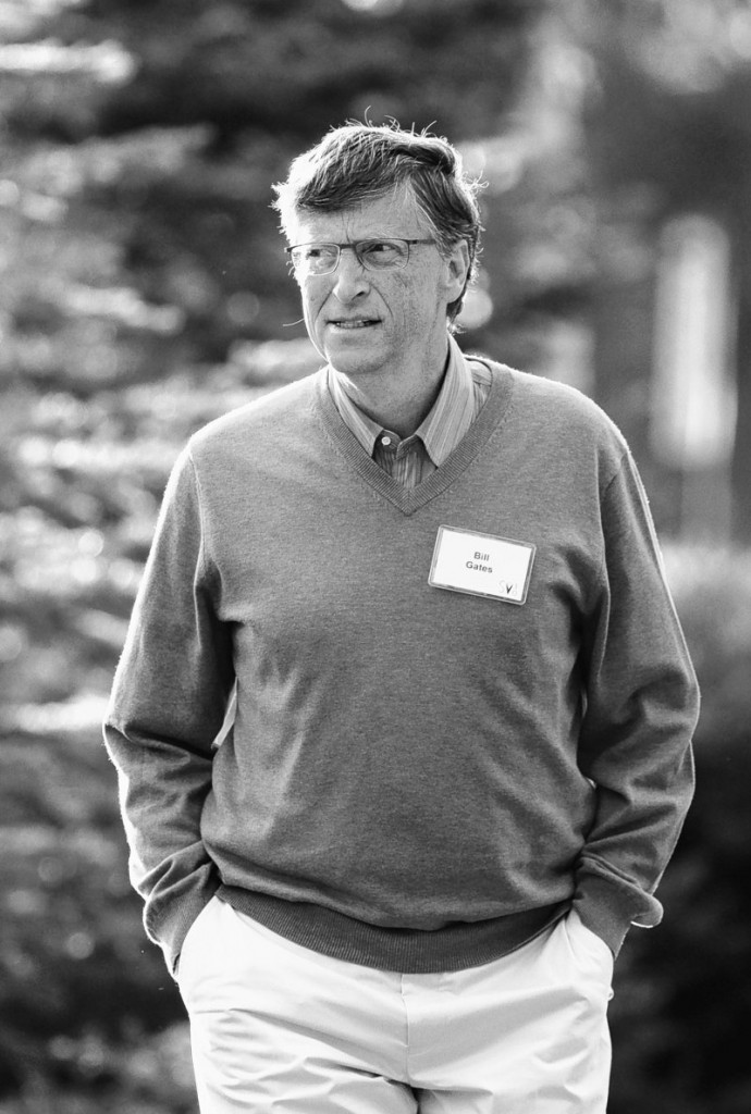 Bill Gates of the Bill and Melinda Gates Foundation walks to a morning session Friday at the annual Allen & Co. media summit in Sun Valley, Idaho.