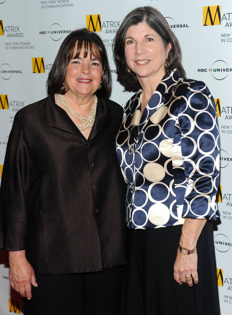 Ina Garten, left, with Anna Quindlen