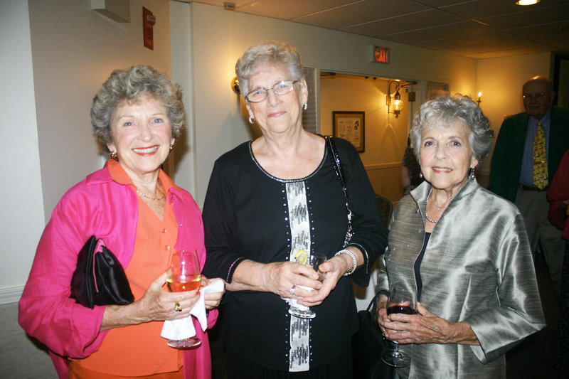 Ruth Carlisle of Brunswick, Mary-Lou Cobb of Brunswick and Pauli Daniels of Portland. All are members of Maine State Music Theatre's volunteer Angels.