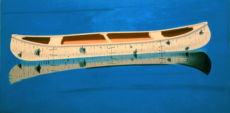 """""""Canoe"""" by Alex Katz comes from the Lunders, although the artist has also been a major benefactor to the Colby museum."""