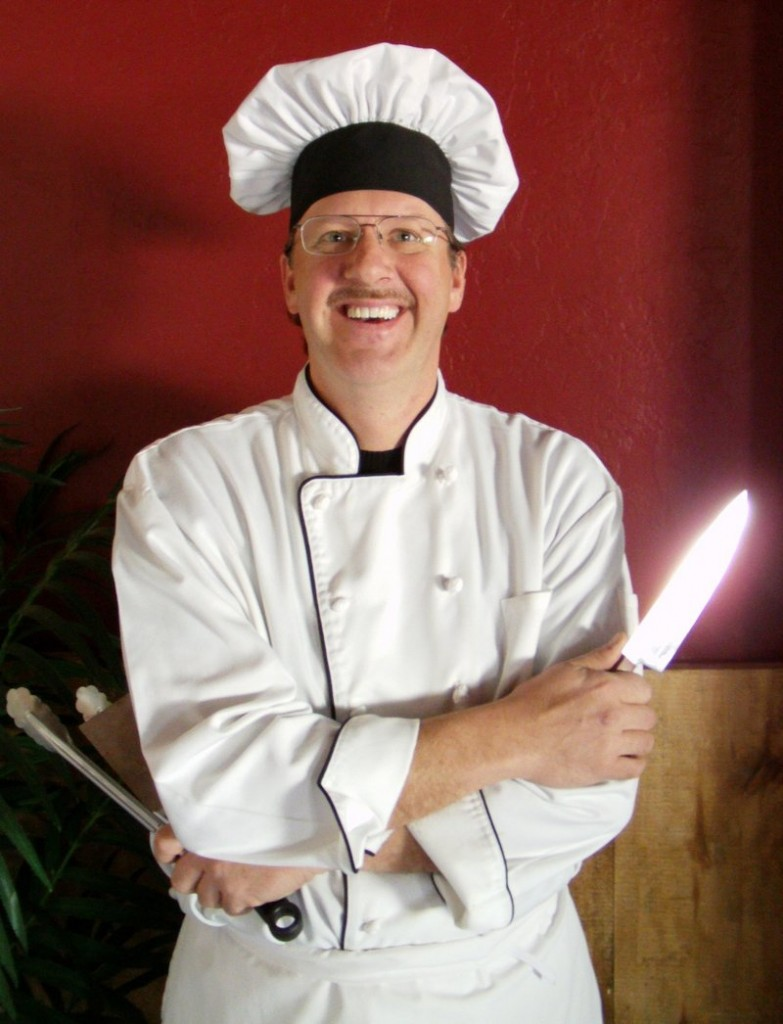 """Chef Mark Anthony brings his """"get off cholesterol"""" message to South Portland with a free show on Sunday."""