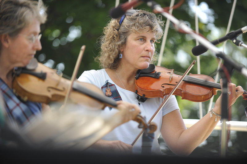 Susan Volmer of Northport performs with the Maine Highland Fiddlers.