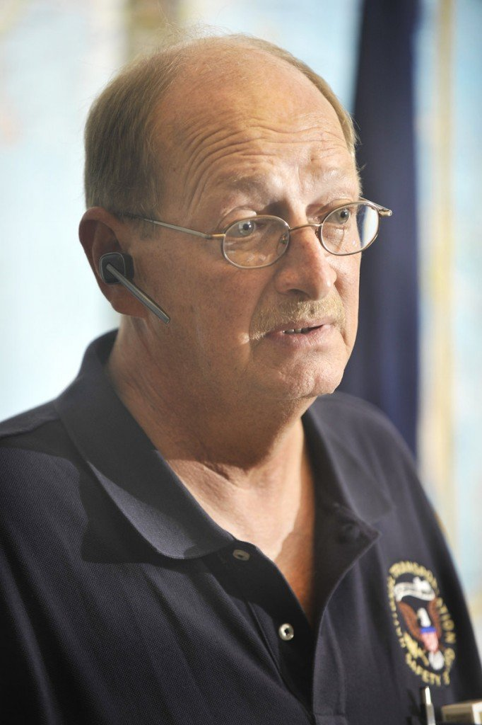 NTSB air safety investigator Butch Wilson gives a preliminary report on Saturday's plane crash in South Portland.