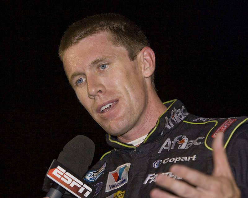 Carl Edwards sees nothing wrong with driving in both the Sprint Cup, where he is 10th, and the Nationwide Series, where he is second.