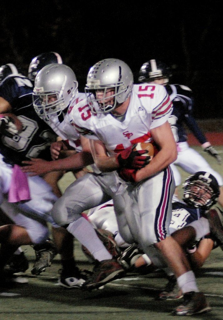 Ryan Curit of South Portland showed his power as a running back last season, and should show it again today.