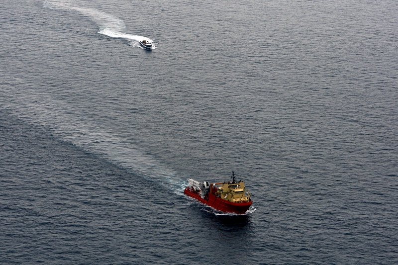 The Associated Press As Tropical Storm Bonnie approached the area near the Deepwater Horizon spill site off the coast of Lousiana in the Gulf of Mexico, all support vessels were evacuating Friday.