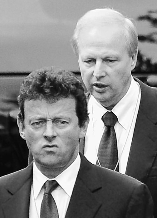 BP Chief Executive Officer Tony Hayward, left, and BP Managing Director Bob Dudley arrive at the White House in Washington in June.