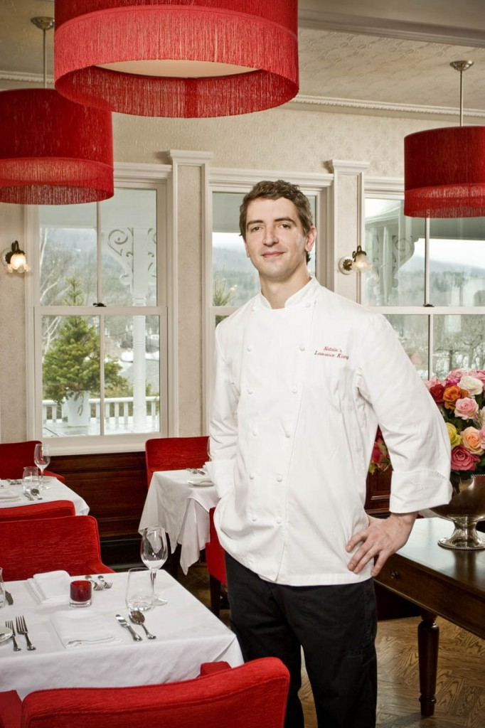 Chef Lawrence Klang, at Natalie's restaurant in the Camden Harbour Inn, says that in choosing menu selections,