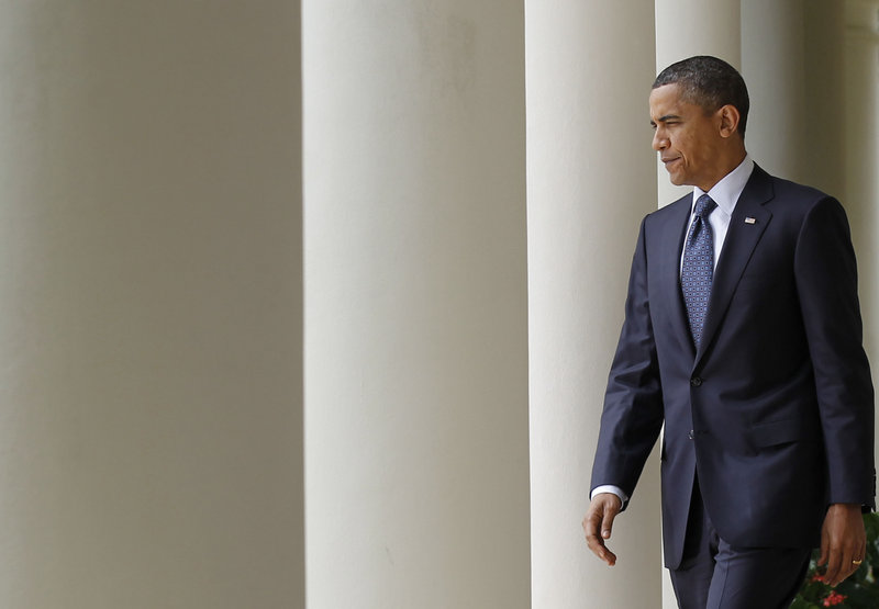 "President Obama walks from the Oval Office to the Rose Garden on Tuesday to deliver his first public comments on the WikiLeaks intelligence breach. He said the disclosure of classified information from the battlefield ""could potentially jeopardize individuals or operations."""