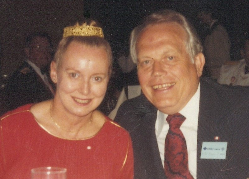"""Beverly Hancock with """"the love of her life,"""" Douglas Hague."""