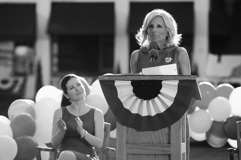 "Jill Biden stars as herself in the Aug. 15 episode of ""Army Wives,"" which airs on Lifetime."