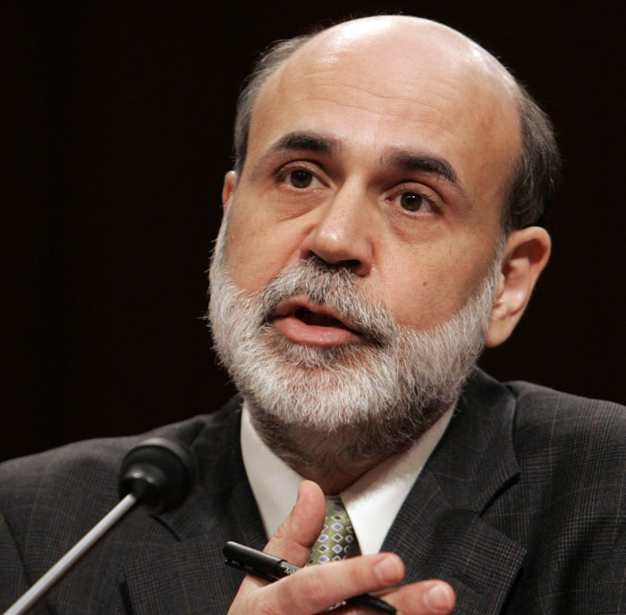"""Federal Reserve Board Chairman Ben Bernanke says the Fed would """"strongly resist deviations from price stability in the downward direction."""""""