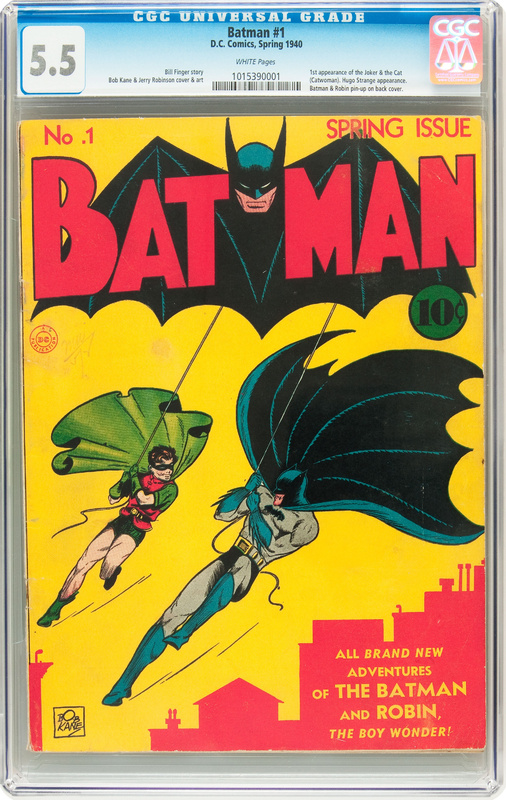 A copy of a 1940 Batman No. 1 comic book owned by Fairbanks, Alaska, comic book buff Mike Wheat is on the auction block. Wheat bought the rare copy, along with two other comics, for $300 in 1974.
