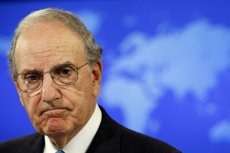 """Special Mideast peace envoy George Mitchell: """"We believe it can be done within a year and that is our objective."""""""