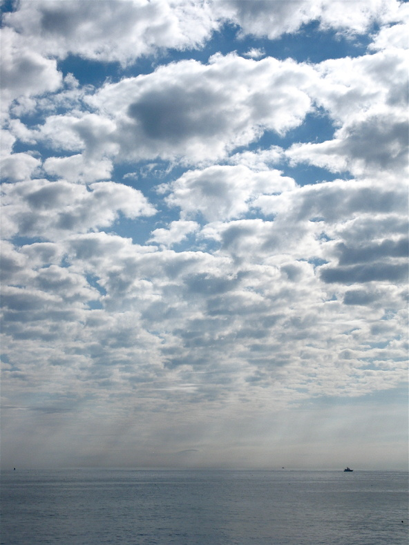 The sky over Broad Cove in Cape Elizabeth, in a photo submitted by Mark Braun, signals what kind of weather is coming.