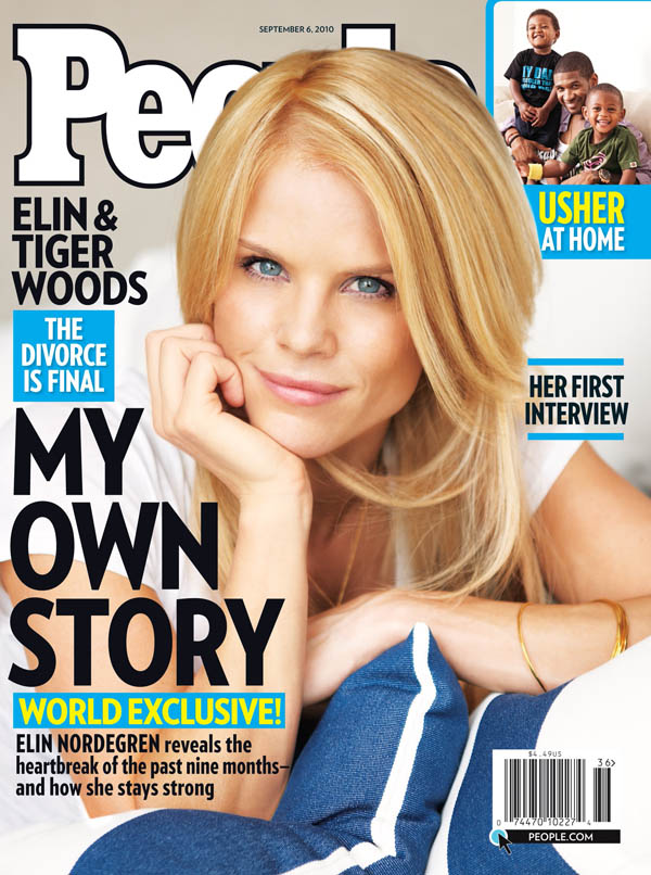 Elin Nordegren is shown on the cover of People magazine's Sept. 6, 2010, issue.