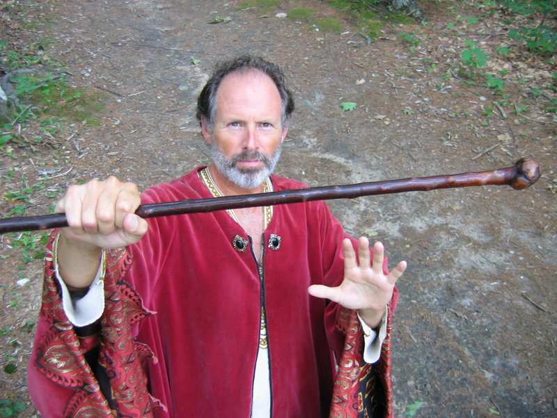 "Dennis McLernon plays Prospero in the Freeport Shakespeare Festival production of ""The Tempest,"" running Tuesday to Friday in L.L. Bean's Discovery Park."
