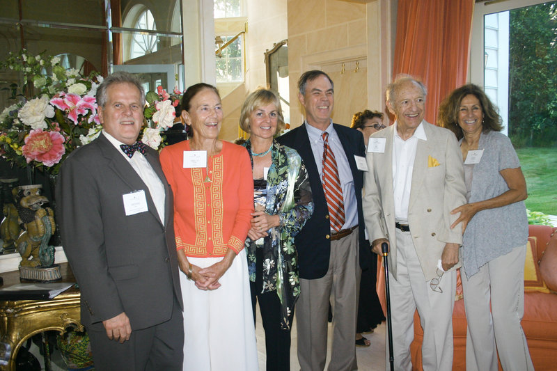 Dennis King, CEO of Spring Harbor Hospital, Milly Monks, author and party host, Sheri Boulos, chair of Spring Harbor's development committee, Dr. Girard Robinson, Spring Harbor's chief medical officer, and Al and Judy Glickman, longtime Spring Harbor supporters.
