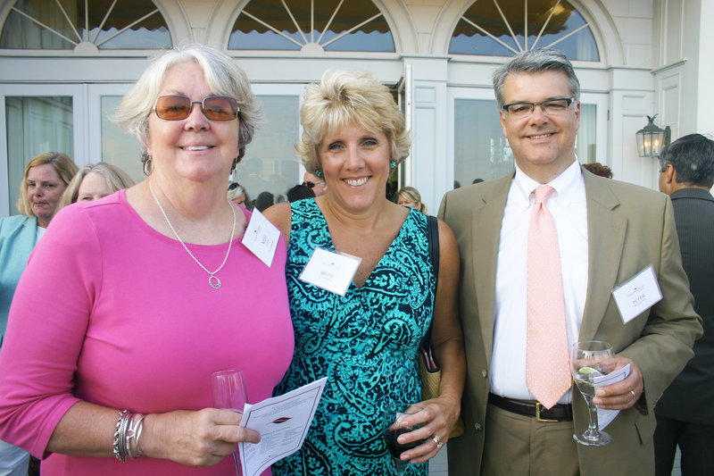 Meg Baxter, host committee member and Spring Harbor's founding board chair, and Beth and Peter Richardson of Cape Elizabeth.