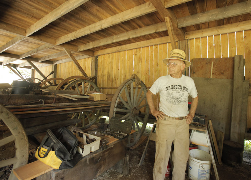 John Hatch is a principal in the preservation group that purchased the historic Scribner's Mill in Harrison in the 1970s. The complex has been turned into a living history museum.