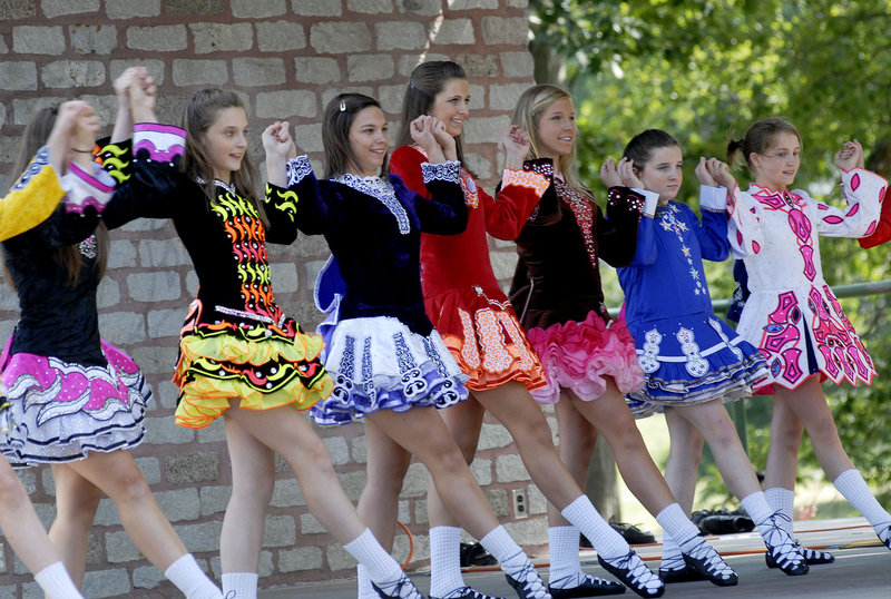 Dancers from The Stillson School of Irish Dance in Portland perform during the Festival of Nations on Saturday.