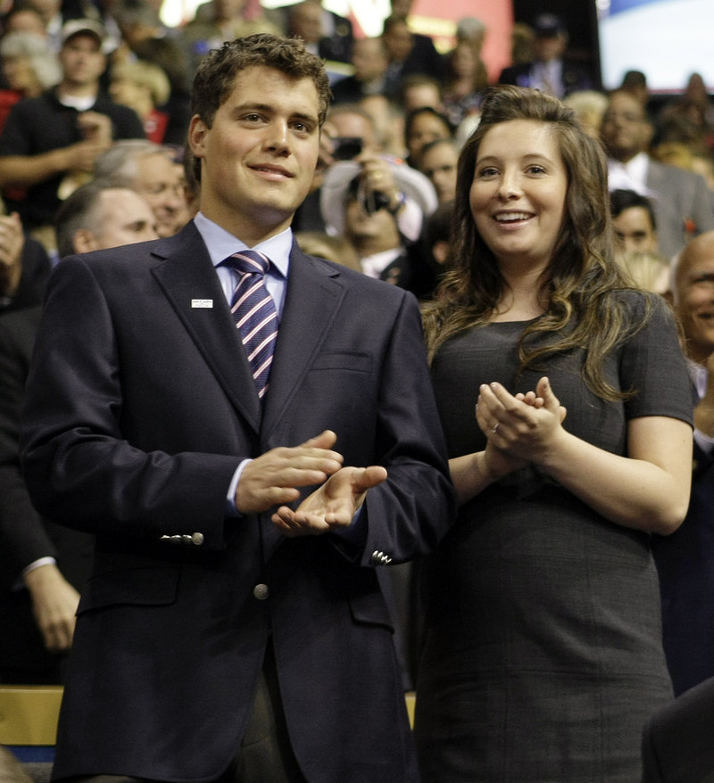 Levi Johnston and Bristol Palin, daughter of former vice presidential candidate Sarah Palin, are shown at the Republican National Convention in St. Paul, Minn.