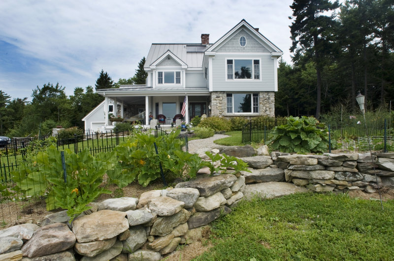 Allan Brown and Virginia Cassarino-Brown's Harpswell home is only 6 years old, but its features give it the ambience of a much older home.