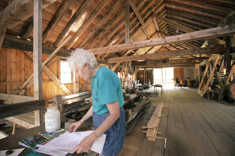 Marylyn Hatch owns the homestead across from Scribner's Saw Mill and is a member of the preservation group.