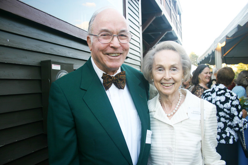 The honorary hosts of the gala at Winslow Homer's studio on July 30, Prouts Neck residents George and Eileen Gillespie