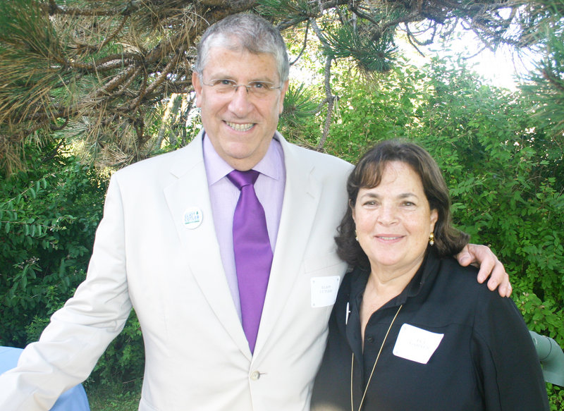 Independent gubernatorial candidate Eliot Cutler and Ina Garten, who is known to her cookbook readers and TV audiences as the Barefoot Contessa.