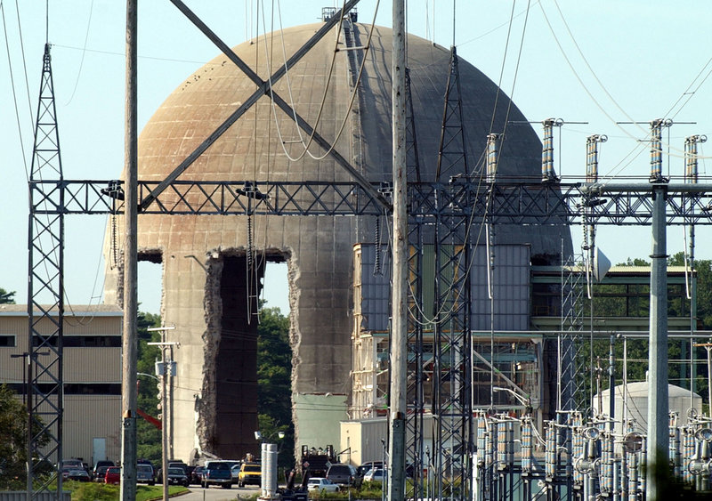 The Maine Yankee nuclear plant in Wiscasset as it appeared during its decommissioning. A reader says no replacements are needed.