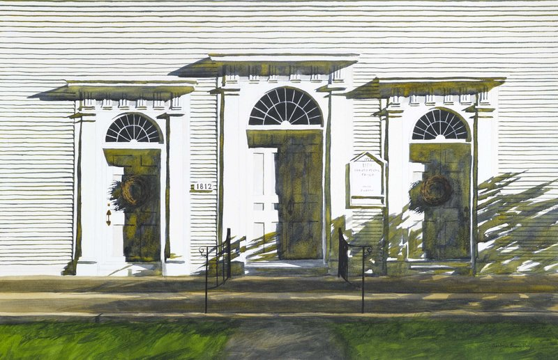 """""""1812,"""" watercolor, 2009, 48 by 34 inches"""