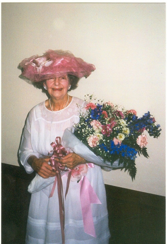 """Rena Deis, wearing in one of the many outfits that make up """"The Living History in Costume"""" collection in 1992."""