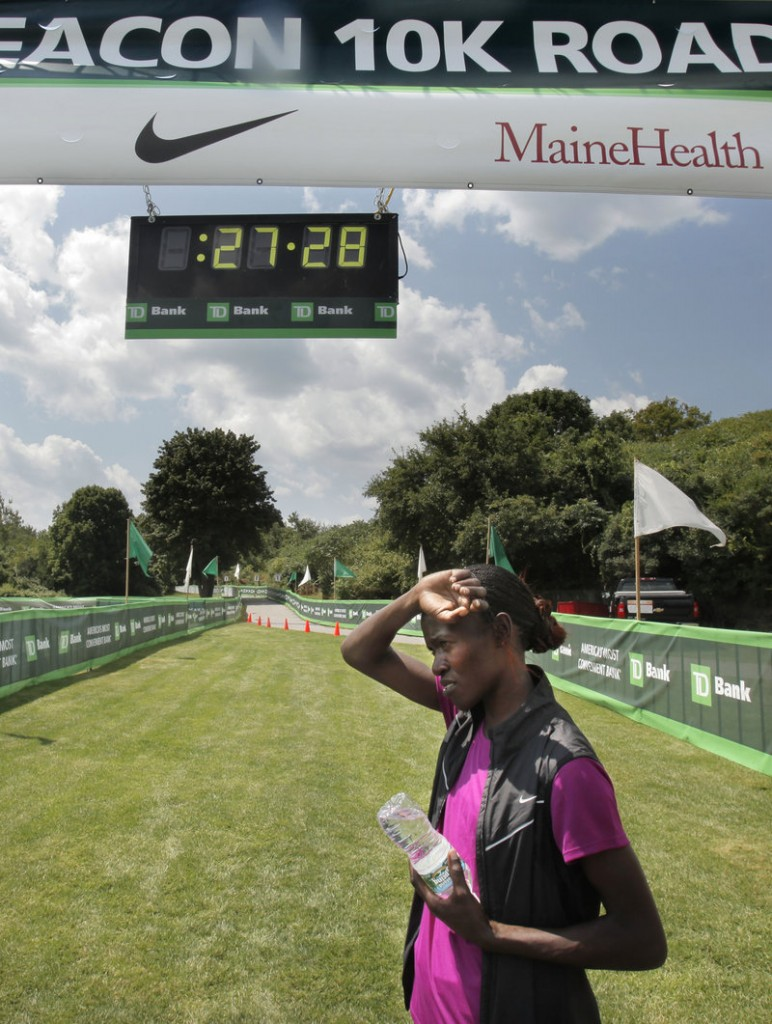 Lineth Chepkurui of Kenya holds the world record over 12 kilometers and the fastest time in the world this year at 10 kilometers.