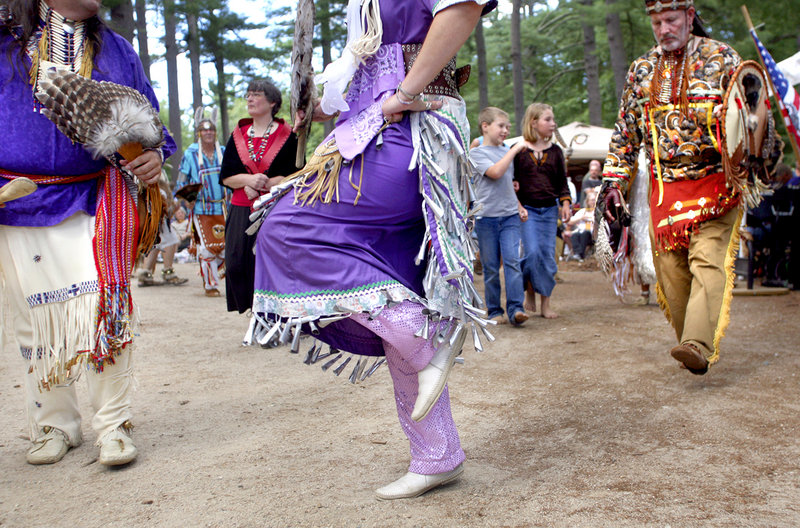 Dancers draw an audience at the Gray park operated by the Maine Department of Inland Fisheries and Wildlife.