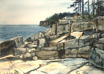 Dan Burleigh Phillips has a fresh batch of landscapes for Saturday's show at Mill Creek Park in South Portland.