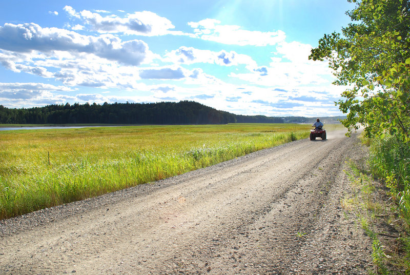 The Down East Sunrise Trail will soon be open for 85 miles, from Washington Junction near Ellsworth to just west of Eastport. The 32 miles now open run partly along the Machias River and are used by ATV riders, cyclists, pedestrians, snowmobilers and equestrians.