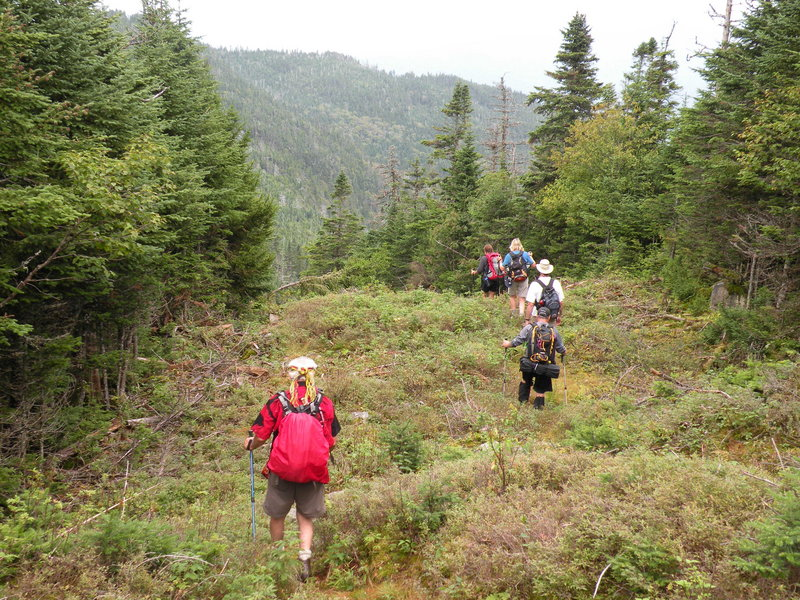The Sentiers Frontaliers runs for about 55 miles near the border between the Eastern Townships of Quebec and the U.S.