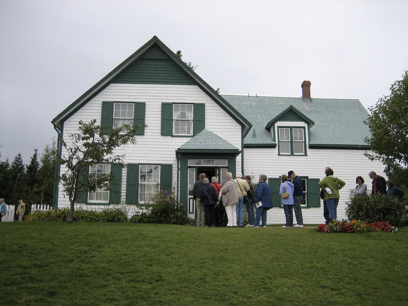 """Visitors line up to tour """"Green Gables"""" Prince Edward Island, Canada. Prince Edward Island is where """"Anne of Green Gables,"""" by Lucy Maud Montgomery, was set, and the island is home to a white farmhouse with green gables, where relatives of author Lucy Maud Montgomery lived."""