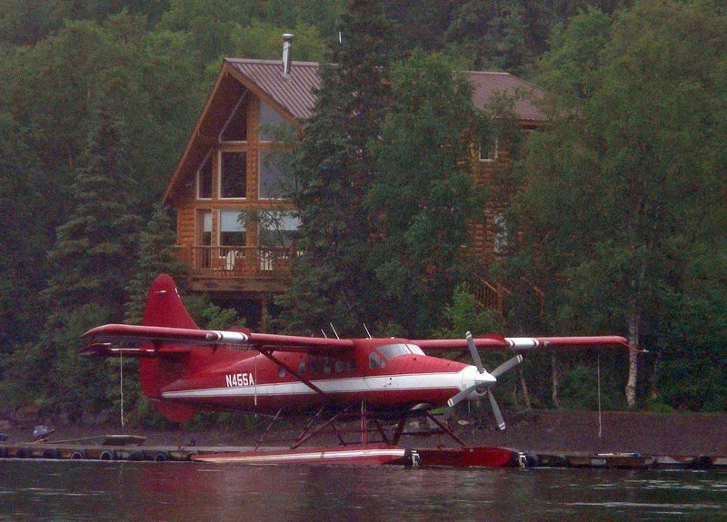 This plane, a de Havilland DHC-3T with tail number N455A and shown last year on Lake Nerka, crashed 10 miles northwest of Aleknagik, Alaska, on Monday night, killing five people, according to the National Transportation Safety Board. Four people survived. The dead included former GOP Sen. Ted Stevens, above, a legend in Alaska politics.