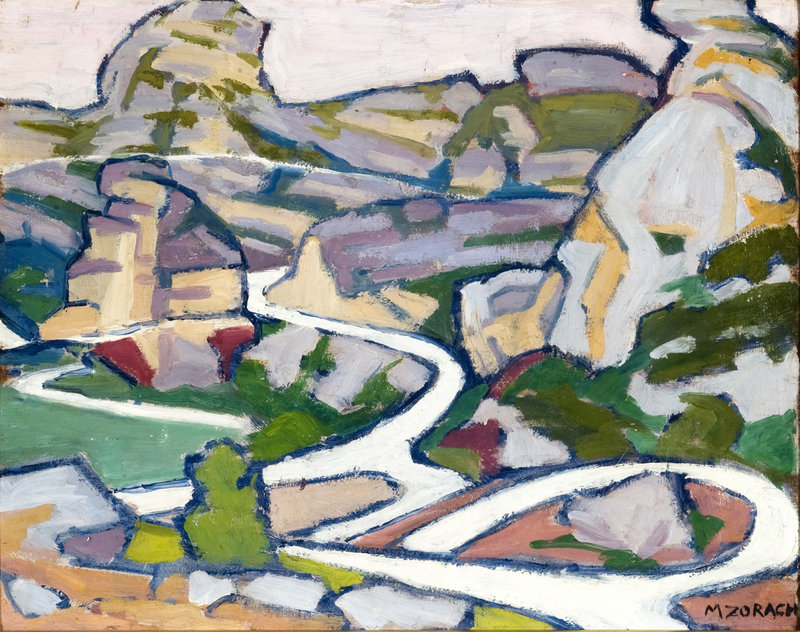 """Les Baux"" by Marguerite Zorach was purchased by the Portland Museum of Art at last weekend's Barridoff Galleries art auction in Portland."