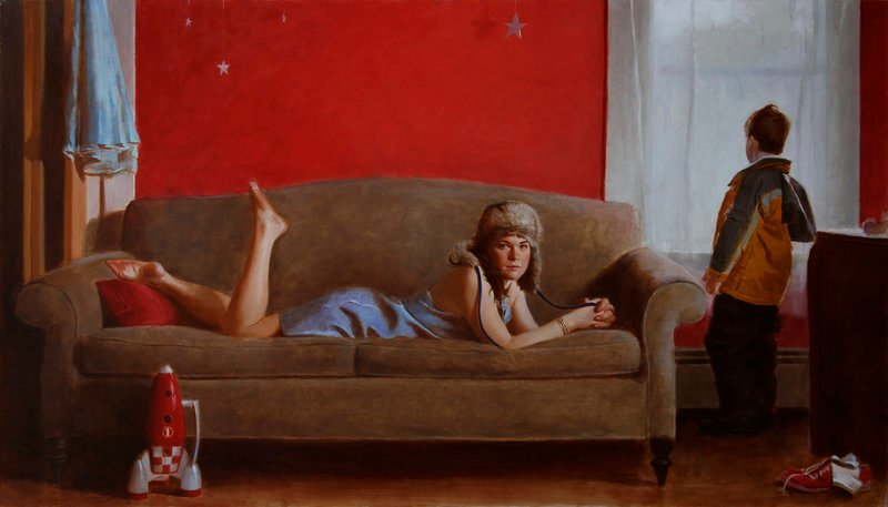 "David Graeme Baker's ""Asterism,"" oil on linen"
