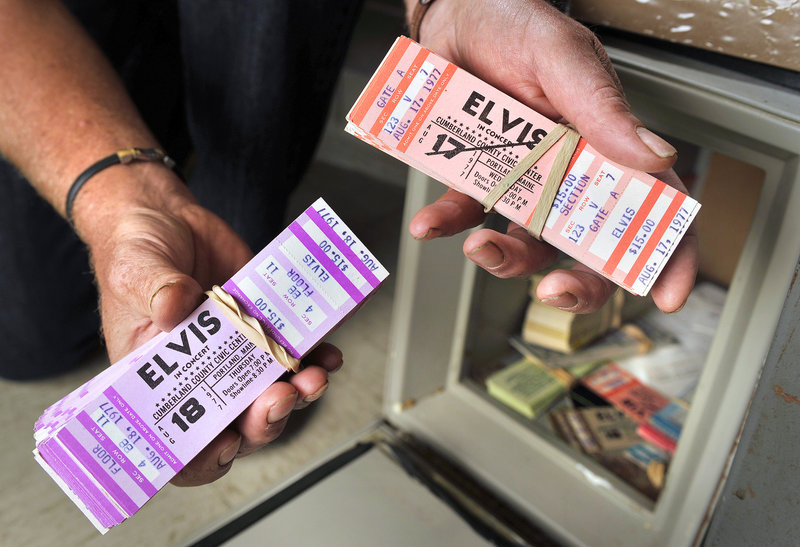 The Cumberland County Civic Center still has a few tickets from Elvis Presley's scheduled 1977 Portland dates.