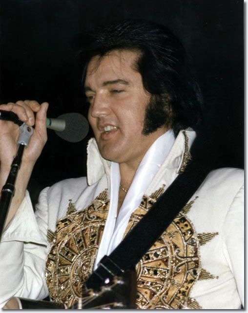 Elvis Presley performs at a concert in Cincinnati in June 1977.