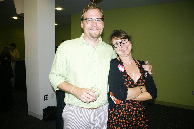 New executive director Joshua Bodwell and outgoing executive director Shonna Milliken Humphrey