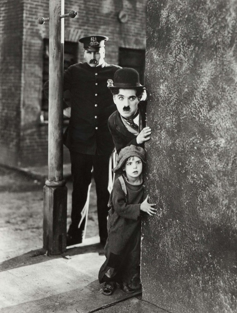 Charlie Chaplin and Jackie Coogan in