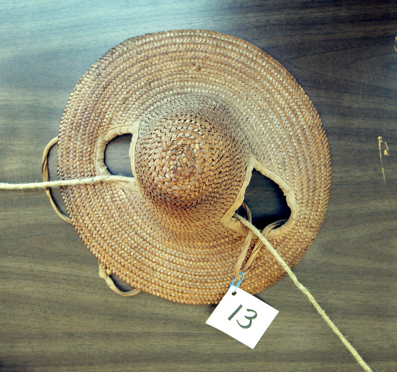 The What's It Contest asked visitors to guess what artifacts like this were used for in Bethel's earlier days. This item was a hat for a horse.