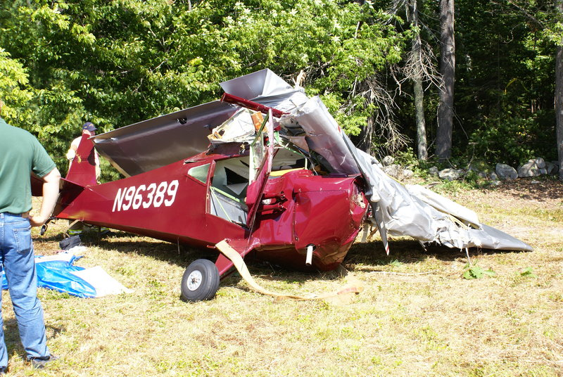 The wreckage of George Fortin's 1946 single-engine plane was found early Sunday morning in Harrison.