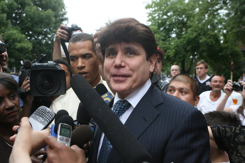 "Former Gov. Rod Blagojevich said outside his Chicago home that he would appeal the lone guilty verdict for lying to the FBI, and that prosecutors ""could not prove I did anything wrong."""